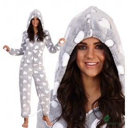 Vientisos pliušinės pižamos