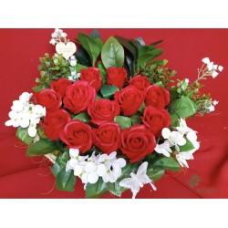 Rožių puokštė iš muilo